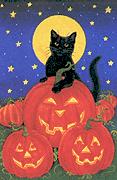Halloween_black_cat_pumpkins